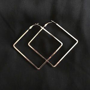 Jewelry - SQUARE HOOP EARRINGS